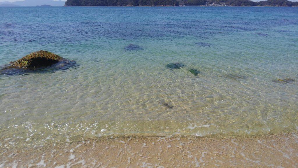 柱島の砂浜は綺麗