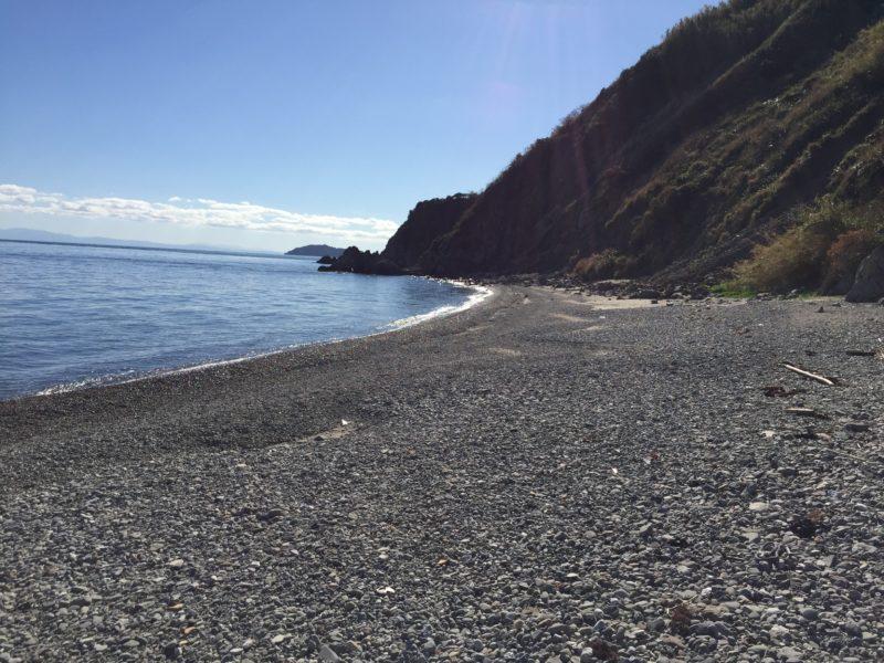 祝島の砂浜